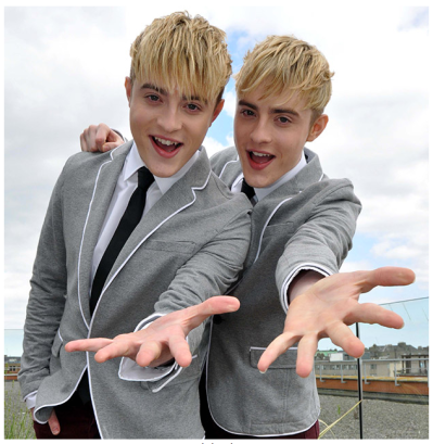 Jedward in The Sun
