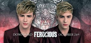 Jedward and Ferocious. Photo : iTunes